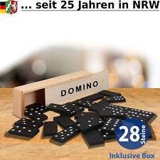 Domino Spiel Steine Dominosteine Dominospiel Gesellschaftsspiel in Holzbox