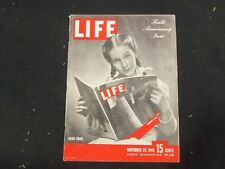 1946 NOVEMBER 25 LIFE MAGAZINE - LIFE'S 10TH ANNIVERSARY ISSUE - L 524