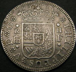 SPAIN 2 Reales 1723F Segovia - Silver - Philip V - VF/XF - 1505 ¤