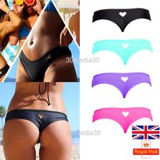 Sexy Bikini Bottom Women Brazilian Cheeky With Heart Thong V Swimwear Swimsuit