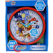 Paw Patrol Wall Clock 8in Round Kids Room Chase Marshall Rubble Watch