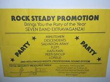 "MINUTEMEN THE DESCENDENTS PUNK FLYER LA Poster sst record metal 45 lp 7"" cd"
