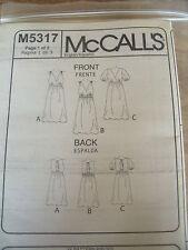 M5317  PATRON  McCALL'S 3 MODELES ROBE DE SOIREE CHIC  TAILLE  42 /44 / 46 / 48