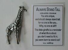 zzi Always Stand Tall giraffe Pocket charm figurine Ganz miniature be confident