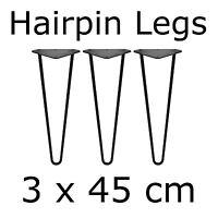 3 x 45 cm Tischbeine Tischkufen Tischgestell Couchtisch Hairpin Legs Baumscheibe