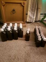 Vintage Amber Brockway Medicine Bottles Lot of 38. Never Used.