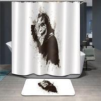 Joker Custom Bathroom Decor Waterproof Fabric Shower Curtain Hooks Bath Mat Set