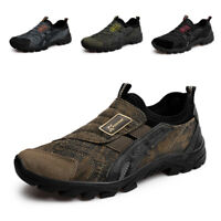 Mens Slip On Sports Outdoor Sneakers Running Walking Hiking Shoes Casual Loafers