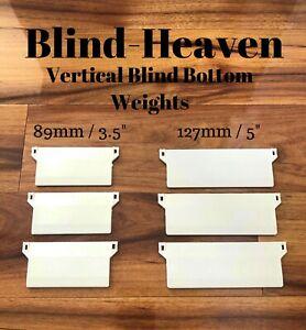 "10 PACK of VERTICAL BLIND 89mm / 3.5"" & 127mm / 5""  BOTTOM WEIGHTS Blind Spares"