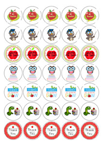 Thank you Teacher  round labels, sweet bags, schools parties 37mm x 35 stickers