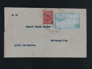Nystamps Colombia Stamp # 359, C11 Used on Cover Paid $1000 Signed a10xv