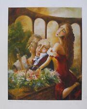 "IGOR POSTASH ""FLOWER GIRL"" Hand Signed Limited Edition Art Giclee"