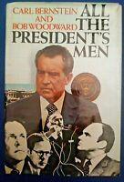 SIGNED by Carl Bernstein ALL THE PRESIDENTS MEN Bob Woodward HC Book DJ BCE 1974
