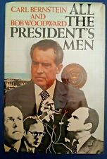 SIGNED by Carl Bernstein ALL THE PRESIDENTS MEN Bob Woodward HC Book DJ BCE 1974