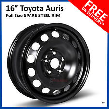 "16"" TOYOTA AURIS 2012 - 2018 FULL SIZE STEEL SPARE WHEEL REPLACEMENT RIM"