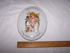 1973 Holly Hobbie Plaque Always Take The Time To Say What'S In Your Heart Cat