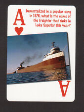 Ss. Edmund Fitzgerald Gordon Lightfoot Song Wreck of... Neat Playing Card #5Y7