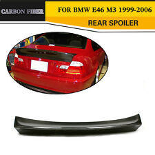 Carbon Fiber Rear Spoilers Trunk Lid Bigger Wings Lip for BMW E46 Saloon 99-06