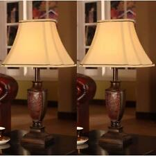 Table Lamps For Bedroom Set Of 2 Living Room Fabric Shade Classic Antique