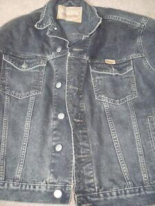Wrangler Black Denim Jacket - size Large