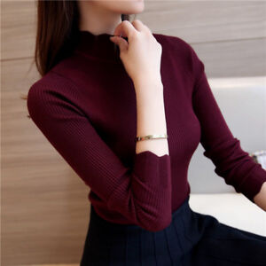 Korean Fashion Women Sweaters Solid Pullovers Sueter Mujer Ruffled Sleeve Thin