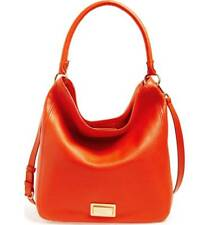 """MARC BY MARC JACOBS $438 """"Take Your Marc"""" Genuine Red Leather Large Hobo Handbag"""