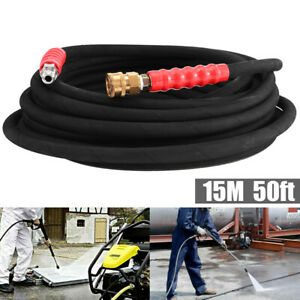 Pressure Washer Hose 3/8Inch x 50' 4000 psi With Quick Connects Hot & Cold Water