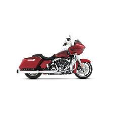 """Rinehart Moto Pro45 4.5"""" Slip-On Mufflers Chrome-Blk Ends '17-'18 Harley Touring"""