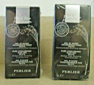 Perlier (2) Black Rice Hyaluronic Acid Gel 94.5% .5 Oz New
