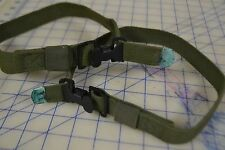 "lot of 2 military strap tie down cinch 24"" long cotton duck webbing metal tip"