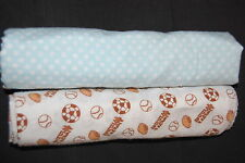 Snugly Baby Sports Balls Blue White Dots Lot of 2 Infant Boy Receiving Blanket