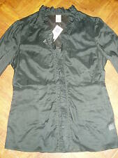 NEW GAP Women's Top with Ruffle Detail & 3/4 Length Sleeves Size 8