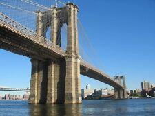 NEW YORK BRIDGE PONTE 1 QUADRO STAMPA SU TELA CANVAS +TELAIO VERNICE PEN. 60X80