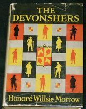 Honore Willsie Morrow - THE DEVONSHERS - 1924 HC/DJ