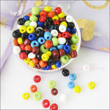 250Pcs Mixed Solid Color Tiny Seed Round Glass Spacer Beads Charms 4mm