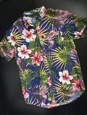 c639a3c7 Huntington Beach Club Mens Medium Floral Tropical Short Sleeve Shirt