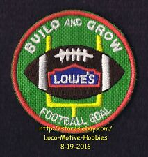 LMH PATCH Badge 2012 FOOTBALL GOAL Post Sports LOWES Build Grow Kids Clinic
