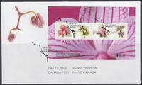 CANADA #2356 FLOWERS SOUVENIR SHEET FIRST DAY COVER