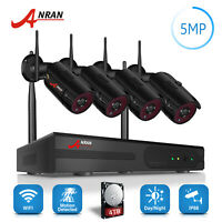 ANRAN 5MP Wifi Security Camera System 1944P Wireless CCTV Outdoor 4TB Night Kits