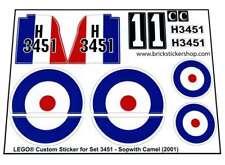 1973 London Bus Lego® Custom Pre-Cut Sticker for Legoland set 384