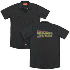 Back To The Future Logo Licensed Adult Men's Graphic Work Shirt Sm-3Xl