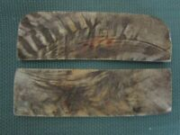 Two 4 7/8  in. Rams/Sheep  Horn  knife scales handles plates  lot - 208