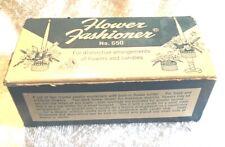 Vintage Flower Frogs Flower Fashioner Gadjo N.Y. Crystal Plastic Nos Box (1)