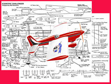 """Model Airplane Plans (UC): Scientific CHALLENGER 45"""" Stunt for .35 (Musciano)"""