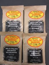 Mild Italian Sausage Seasoning for 100 # of meat venison pork beef link Ac Legg