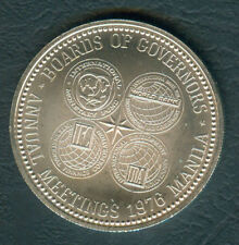 1976 Board of Governors Annual Meeting IMF 50 Piso Philippine Silver Coin