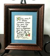 """Vintage '91 Motto Poem Print: """"You Are That Someone In My Life� Custom Framed"""