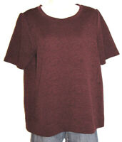 Ann Taylor LOFT Women's Mulberry Short Sleeve Stretch Embroidered Top Size Large