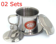 02 Sets x Size 09, Vietnam French Coffee Filter, Press Maker, Stainless Steel