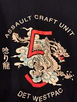 T-shirt Assault Craft Unit 5 West Pac - unit made from Okinawa -  Lg. US Navy